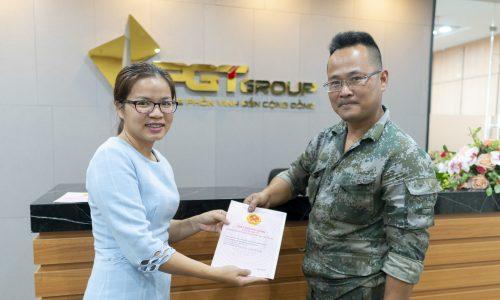 PGT Group bàn giao GCN quyền sử dụng đất cho khách hàng KDC Trường Đại học Duy Tân