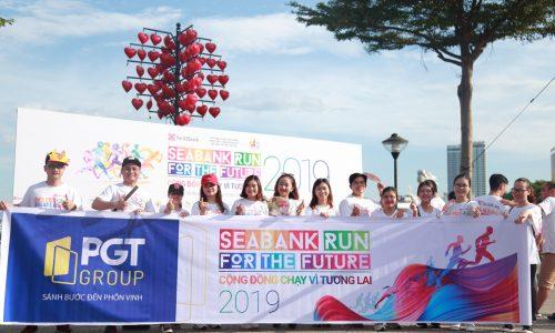 """Đoàn VĐV PGT Group tham gia giải chạy """"Cộng đồng chạy vì tương lai – SeABank Run For The Future 2019″"""